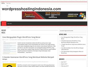 wordpresshostingindonesia.com screenshot