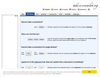 Main page screenshot of take-a-screenshot.org