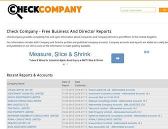 checkcompany.co.uk screenshot