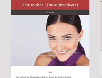 Main page screenshot of kstreetkate.net