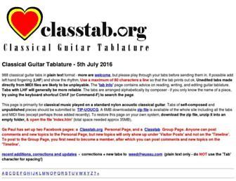classtab.org screenshot