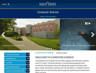 cs.kent.edu screenshot