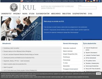 Main page screenshot of kul.lublin.pl