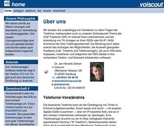 Main page screenshot of voiscout.de