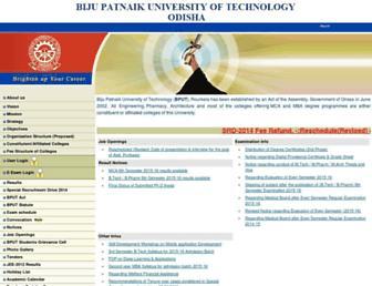 bput.ac.in screenshot