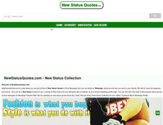 newstatusquotes.com screenshot