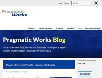 blog.pragmaticworks.com screenshot