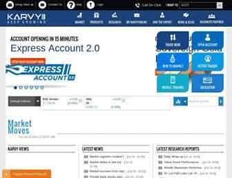 karvyonline.com screenshot