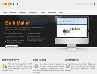 bulkmailerpro.com screenshot