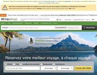 Main page screenshot of tripadvisor.fr