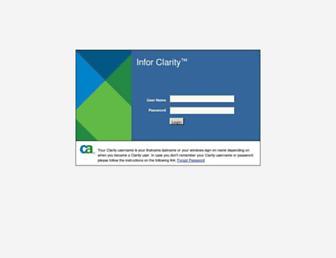 clarity.infor.com screenshot