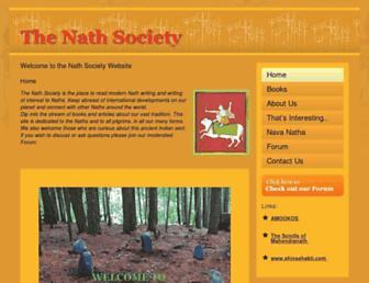 Main page screenshot of nathsociety.org