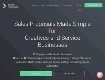 betterproposals.io screenshot