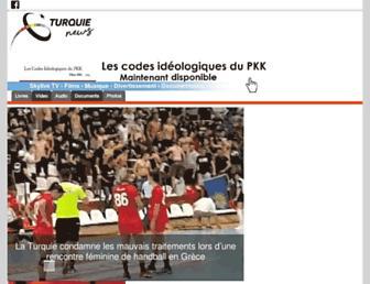 Main page screenshot of turquie-news.fr
