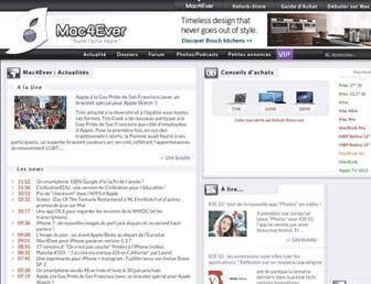 Thumbshot of Mac4ever.com
