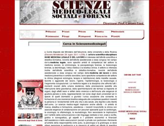 Main page screenshot of scienzemedicolegali.it