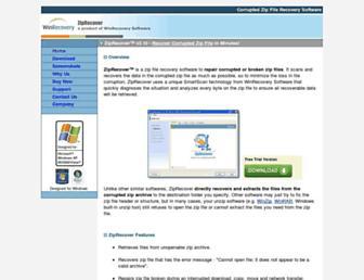 ziprecover.com screenshot