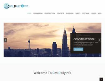 civildailyinfo.com screenshot
