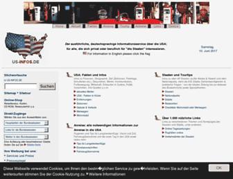 Main page screenshot of us-infos.de