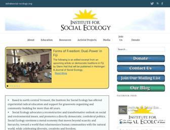 Main page screenshot of social-ecology.org
