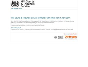 Main page screenshot of employmentappeals.gov.uk