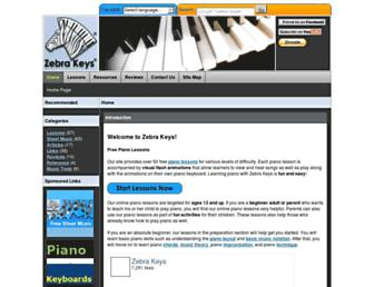 zebrakeys.com screenshot
