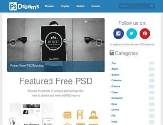 psdreams.com screenshot