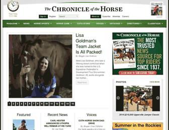 chronofhorse.com screenshot