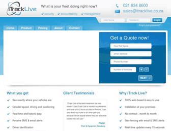 itracklive.co.za screenshot