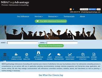 mbaprepadvantage.com screenshot