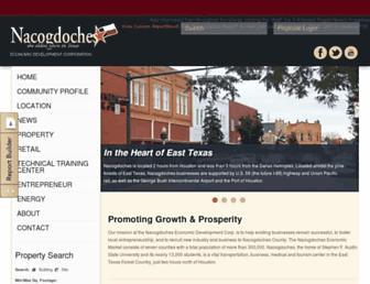 Main page screenshot of nedco.org
