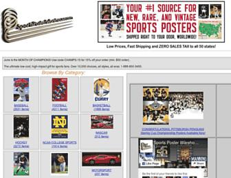 sportsposterwarehouse.com screenshot