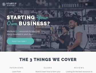 startupsavant.com screenshot