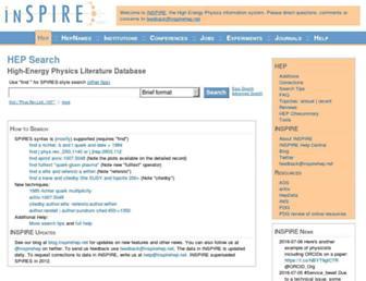 inspirehep.net screenshot