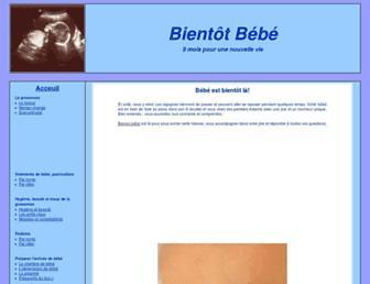 Main page screenshot of bientot.bebe.free.fr