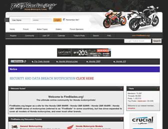 Main page screenshot of fireblades.org