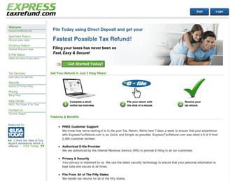 expresstaxrefund.com screenshot