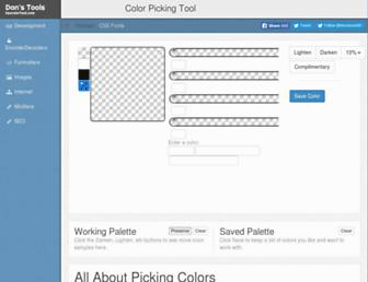 hexcolortool.com screenshot