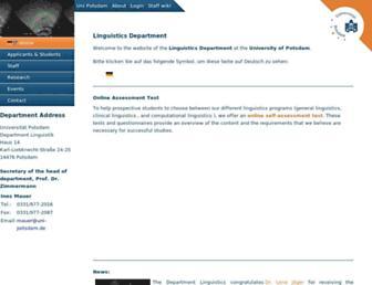 Main page screenshot of ling.uni-potsdam.de