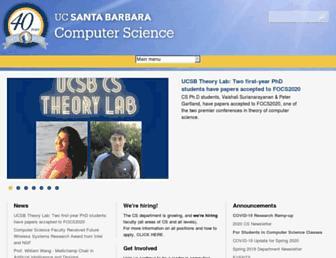 sites.cs.ucsb.edu screenshot