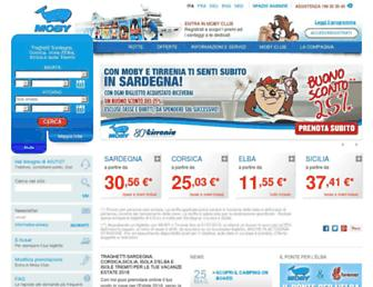 Main page screenshot of moby.it