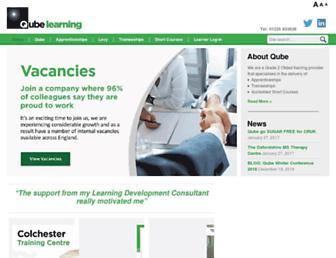 qube-learning.co.uk screenshot