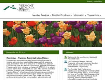 vtmedicaid.com screenshot