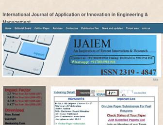 ijaiem.org screenshot