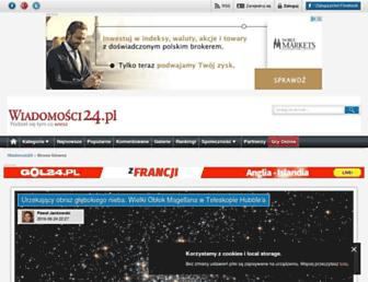 Main page screenshot of wiadomosci24.pl