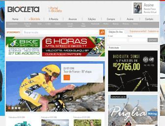 Main page screenshot of revistabicicleta.com.br