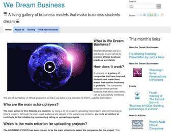 Fullscreen thumbnail of wedreambusiness.org
