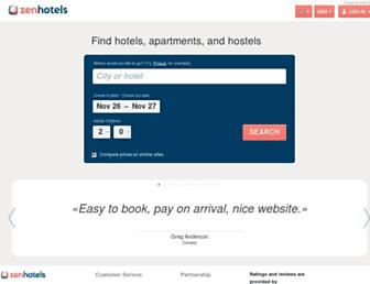 zenhotels.com screenshot