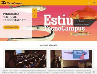 Main page screenshot of tecnocampus.cat