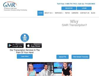 gmrtranscription.com screenshot